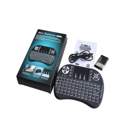 Mini Wireless 2 4GHz Keyboard with Mouse Touchpad Remote Control, Backlight