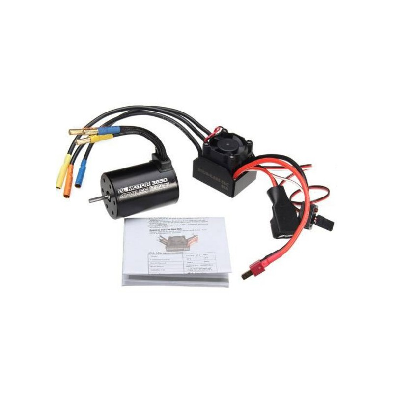 3650 Brushless Motor 3930KV + 60A Waterproof BEAST Series ESC