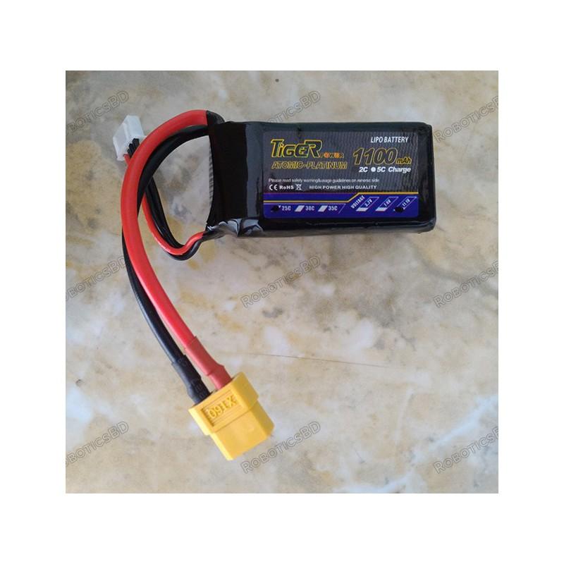 Tiger LiPo Battery 1100mAh 3S 25C