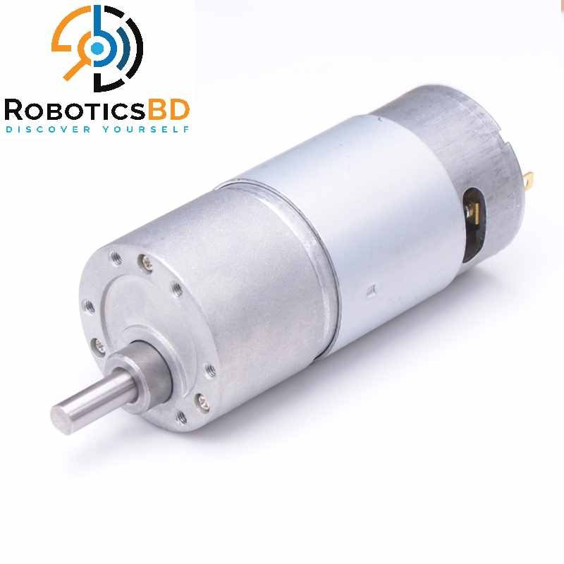 12V 45KG Torque Turbo Worm Gear DC Motor with Metal Gearbox 54 RPM