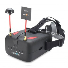 Eachine VR D2 40CH 5 Inches 800 x 480 Raceband 5.8G Diversity FPV Goggles with DVR Lens Adjustable