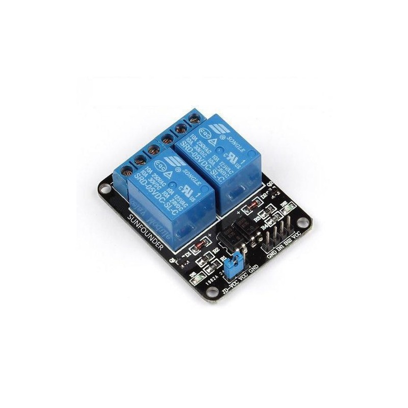 2 Channel Relay Board Module Optocoupler LED for Arduino PiC ARM