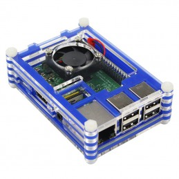 Raspberry Pi 3 Transparent Acrylic Shell Case + Cooling Fan for Raspberry Pi 3