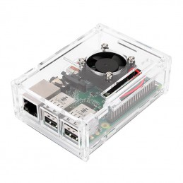 Raspberry Pi 3 Enclosure Box with Cooling Fan