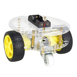 Mini Round Double Deck Chassis Kit 2WD