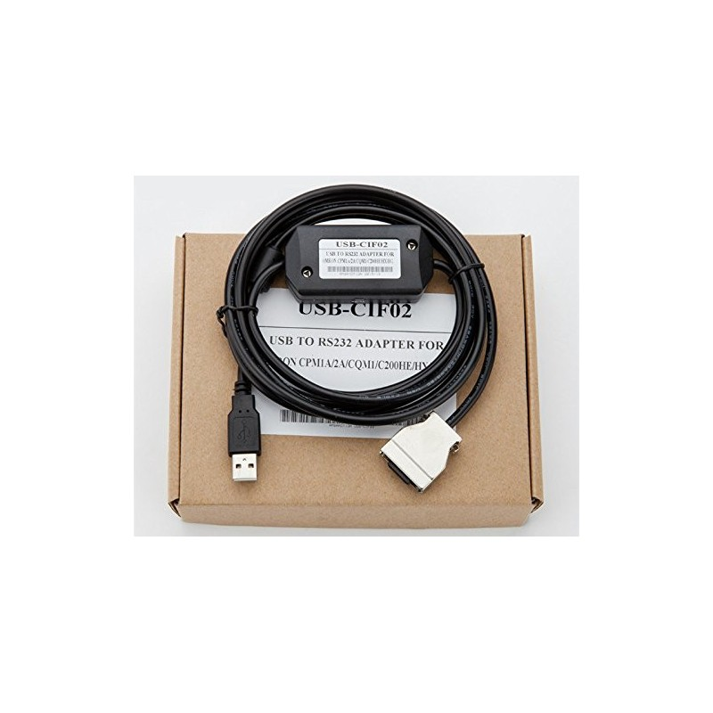 AMSAMOTION USB-CIF02 PLC Programming Cable 4 Omron  CPM1/CPM1A/2A/CQM1/C200HS/HX/HG/HE&SRM1