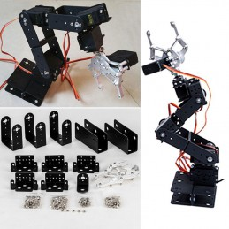 6 DOF Aluminium Mechanical Robotic Arm Clamp Claw Mount Robot Kit