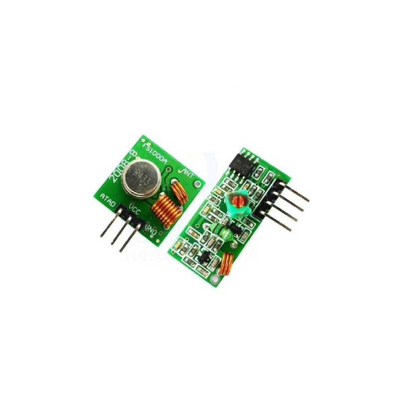 RF Transmitter Receiver Pair 433 MHz