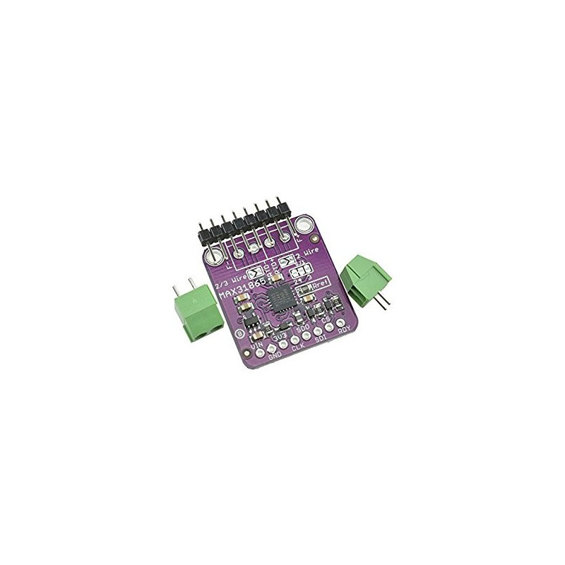 MAX31865 SPI PT100/PT1000 RTD-to-Digital Converter Board