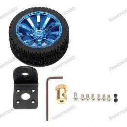 65mm Rubber Wheel with 25GA Motor Mounting Bracket