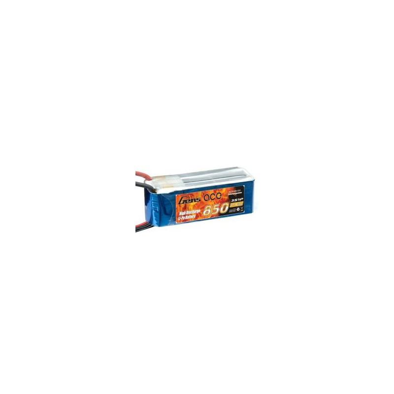 Gens-Ace 3S 11.1V 850mAh 20C LiPo Battery