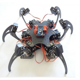 18 DOF Aluminium Metal Hexapod Robot Spider Six Foot/Feet Robotic Frame/Chassis Kit