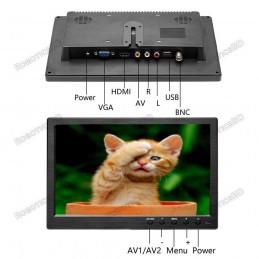 "10.1"" Inch TFT Monitor HD 1024x600 Portable Color Display Screen"