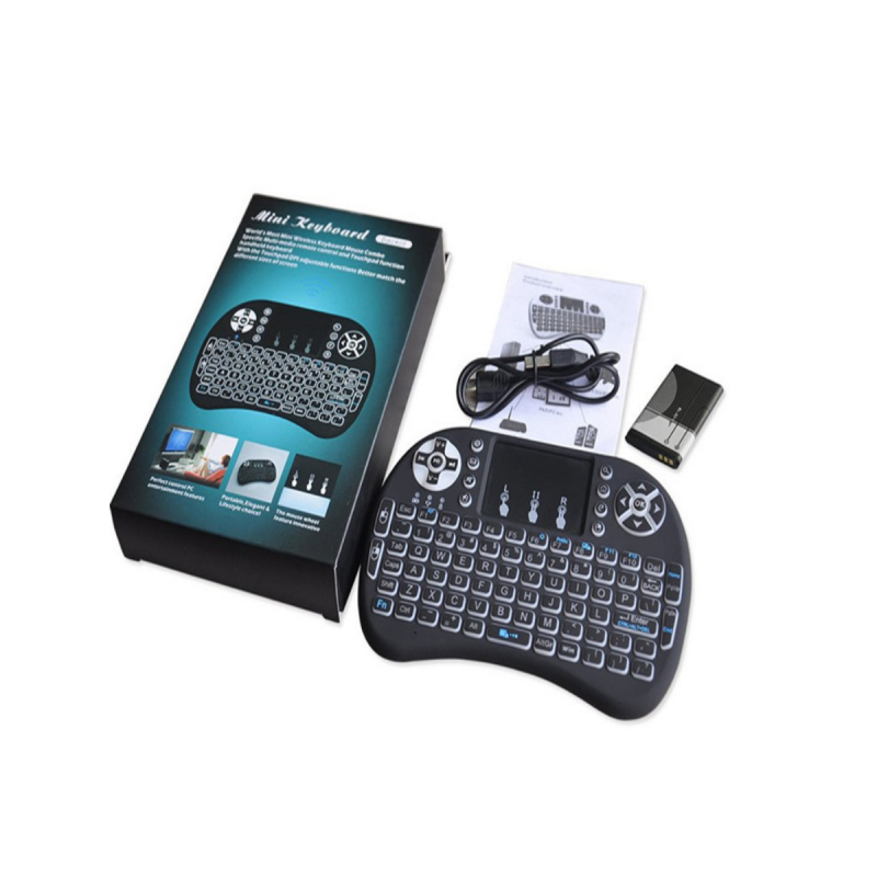 Mini Wireless 2.4GHz Keyboard with Mouse Touchpad Remote Control, Backlight