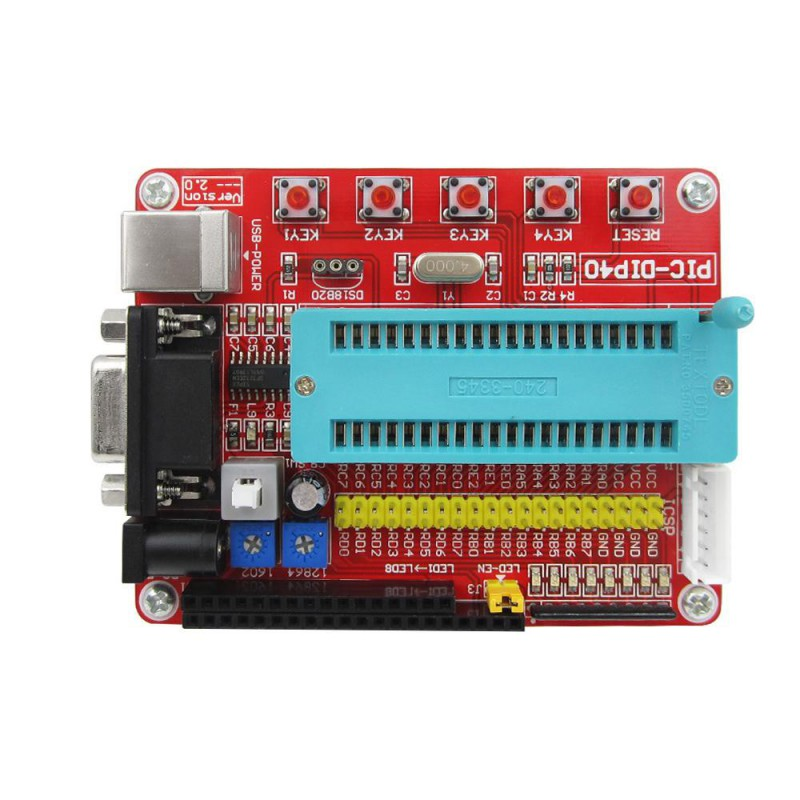 PIC Development Board with Cable PIC16F877