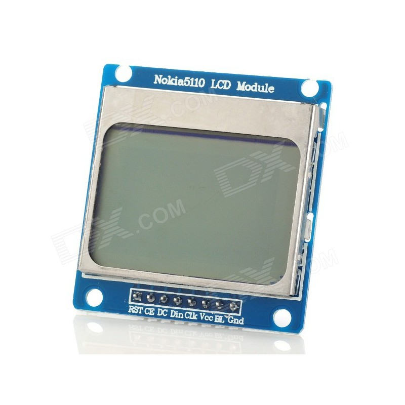 Graphic LCD 84x48 (Nokia 5110) Black on White for Arduino