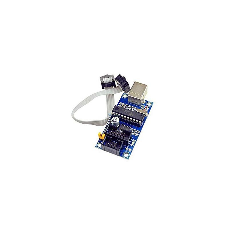 USBTiny USBtinyISP USB Tiny AVR ISP Programmer Bootloader with Programming Cable