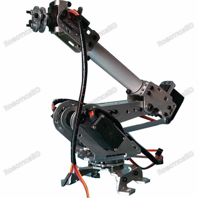 DIY 6DOF Aluminum Robot Arm 6 Axis Rotating Mechanical Robot Arm Kit