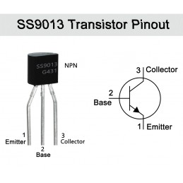 SS9013 Transistor(pack of 3)