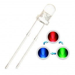 RGB 2 Pin LED 5mm (pack of 5)
