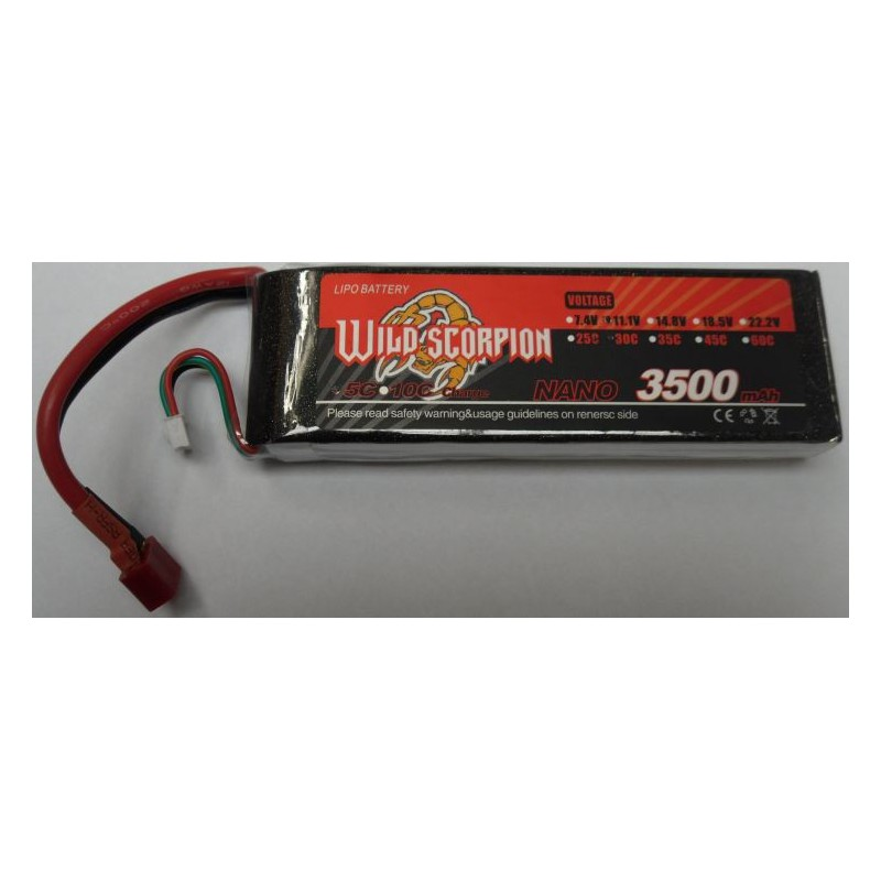 Wild Scorpion 3500mAh 3S 11.1v 30C Lipo Battery