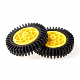 Yellow Motor & Servo Wheel with Thick Rubber Tire
