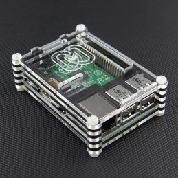 Raspberry Pi 3 Transparent Acrylic Shell Case