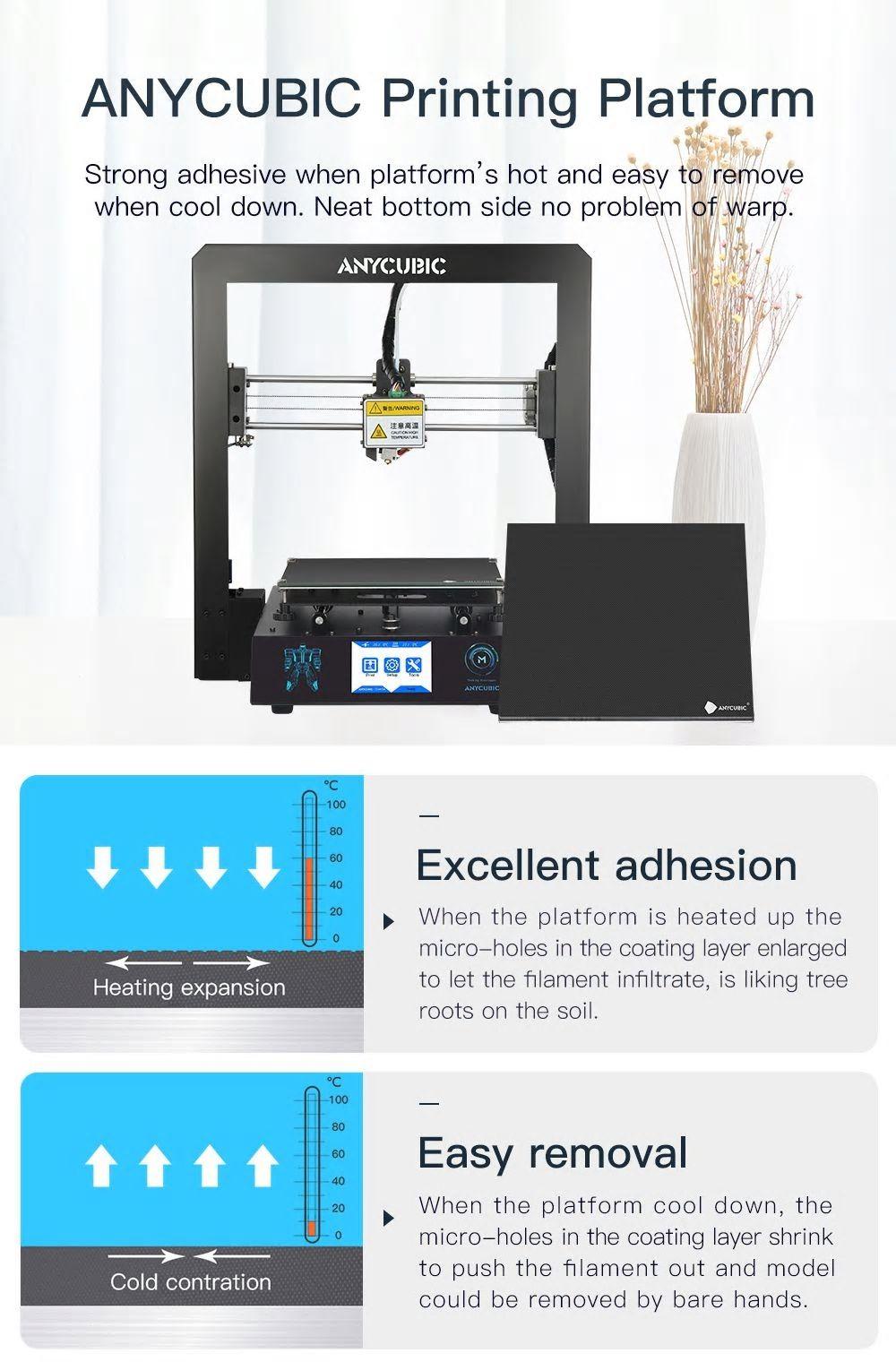 Anycubic I3 Mega 3D Ultrabase Printer Robotics Bangladesh